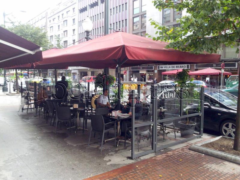 Mamparas paravientos adraglass - Proteccion para terrazas ...