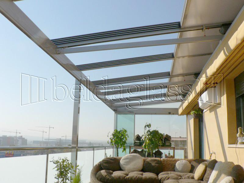 Techos moviles de policarbonato adraglass - Techos de cristal para terrazas ...