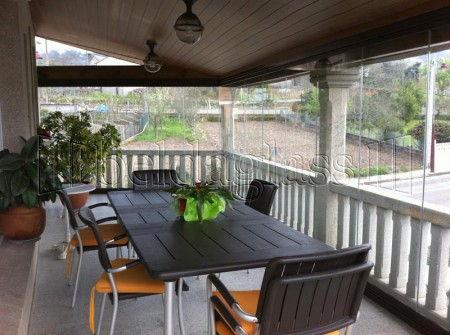 Cerramientos de terrazas adraglass for Cortina cristal terraza