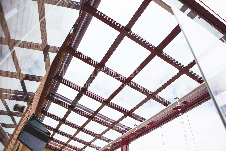 techo movil cristal