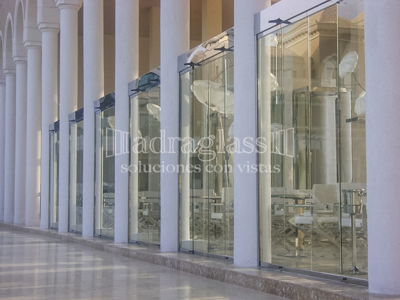 cortinas cristal hostelería