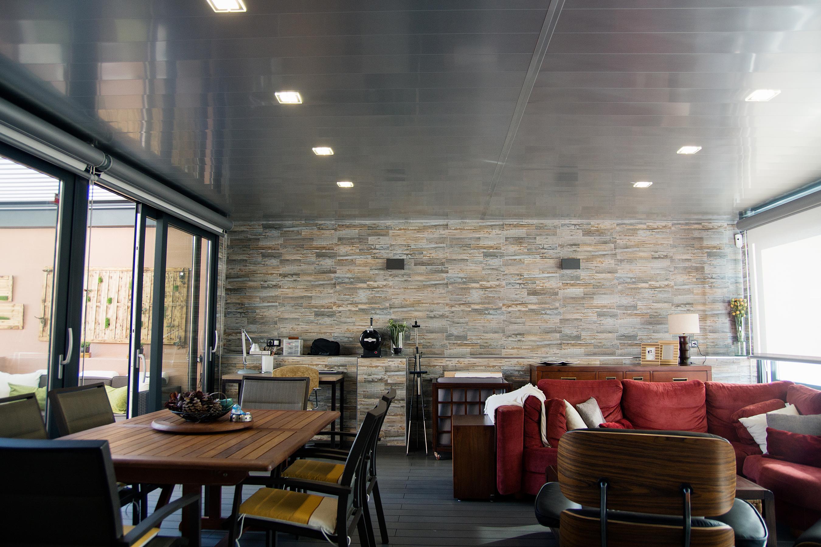 Techar terraza atico finest cubiertas de aluminio para - Pergola terraza atico ...