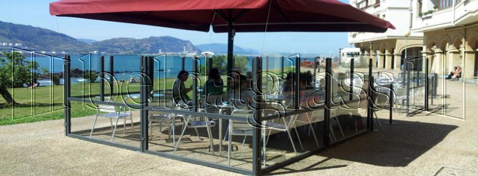 Cortinas de cristal cerramientos de terrazas y techos - Cubiertas de cristal para terrazas ...