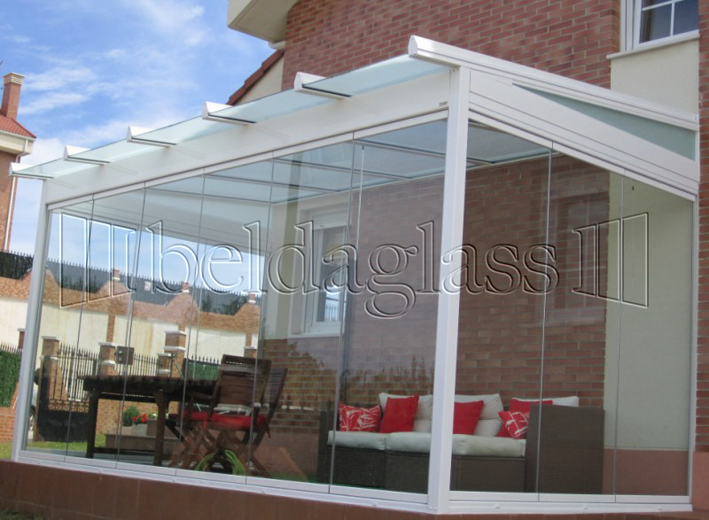 Techos fijos de cristal adraglass soluciones con vistas for Tipos de techos para porches