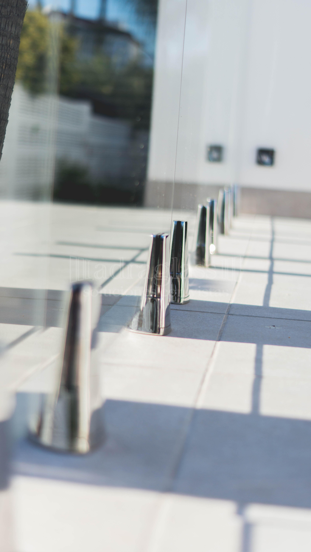 baranda de cristal templado